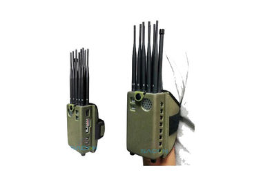 High Power Portable Mobile Phone Blocker Jammer 10w 10 Omni Antennas 8000mAh Battery