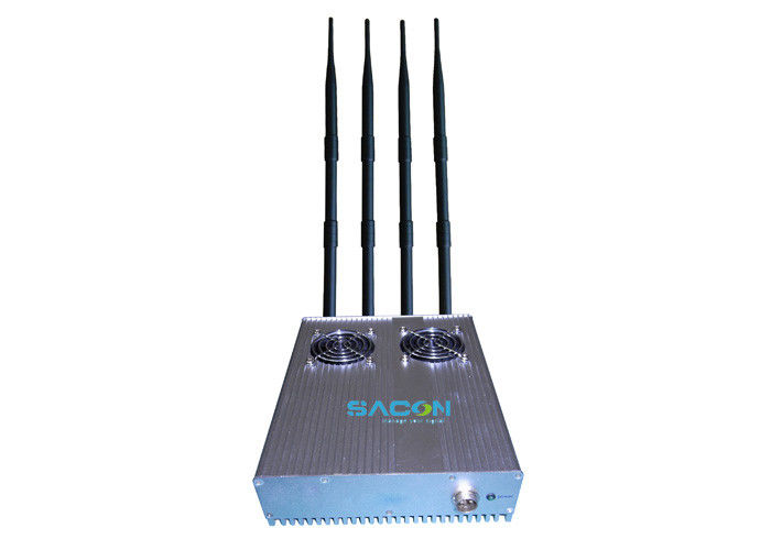 High Frequency 4 Bands Wifi Signal Blocker Device 50m Long Jamming Range