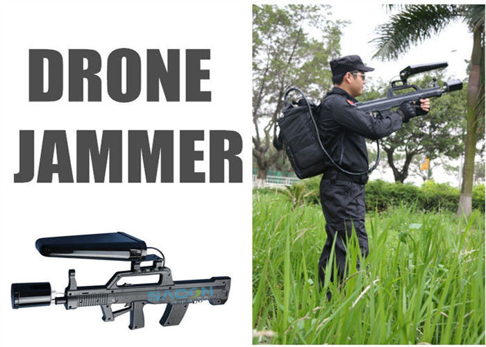 5.8Ghz / 2.4 Ghz Drone Jammer 15w , All In One Handheld Anti Drone Jamming Device