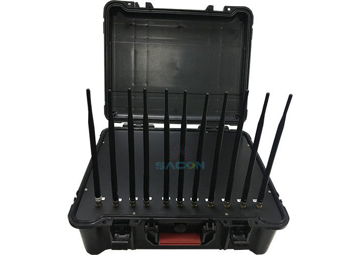 Handheld Box Manpack Jammer 11 Channels Antenna 55W High Power Built - In Battery