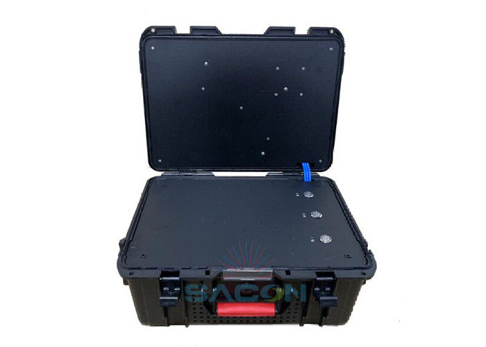 UAV Interceptor Drone Signal Jammer Box Type Easy Operation With Built In Antennas